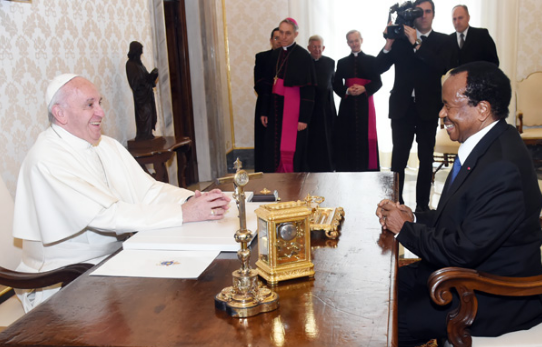 Major National Dialogue: Pope Francis Prays For Peace in Cameroon
