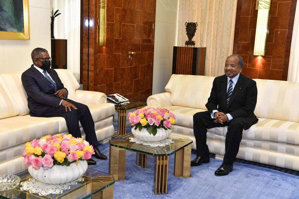 Paul Biya, Dangote Discuss Business Opportunities