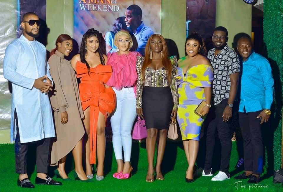 Syndy Emade poses with actors
